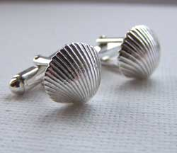 cockle shell cufflinks