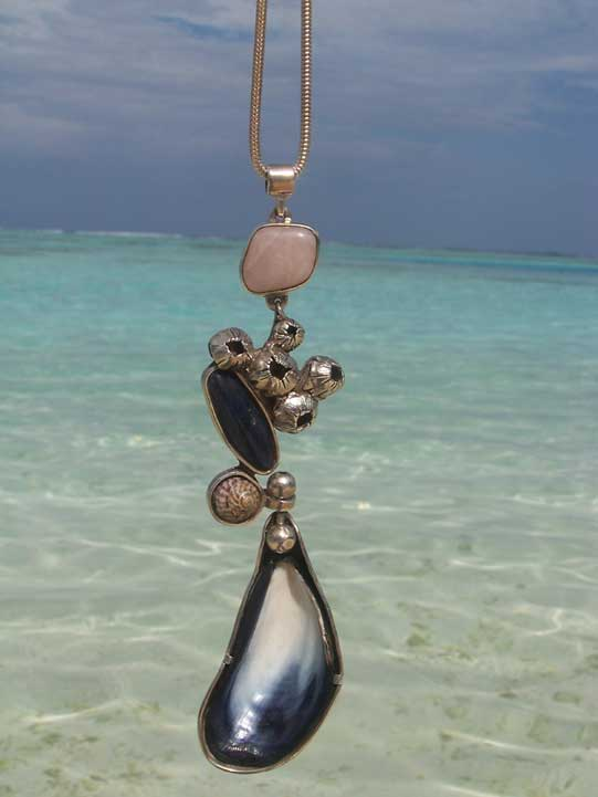 silver original sea shell necklace